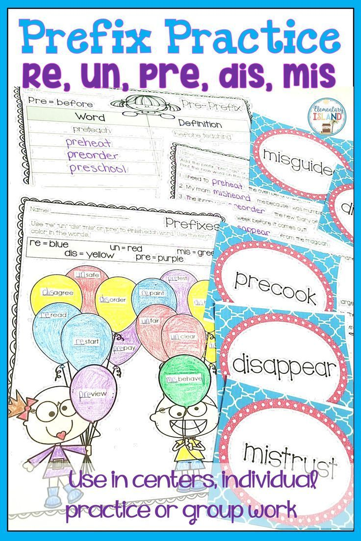 This prefixes activities will have your students engaged and really understanding re, un, mis, dis, and pre. These are great for 2nd grade and 3rd. Use these in small groups, centers, or individually.