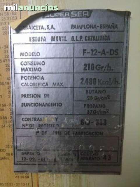 ESTUFA CATALITICA DE BUTANO SUPERSER - foto 5