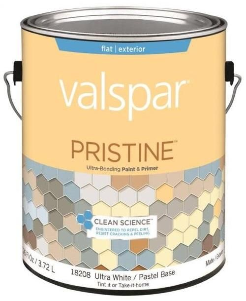 Valspar 18208 Pristine Exterior Paint & Primer, Gallon