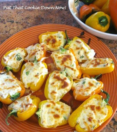 Sweet mini peppers baked.                                                                                                                                                                                 More