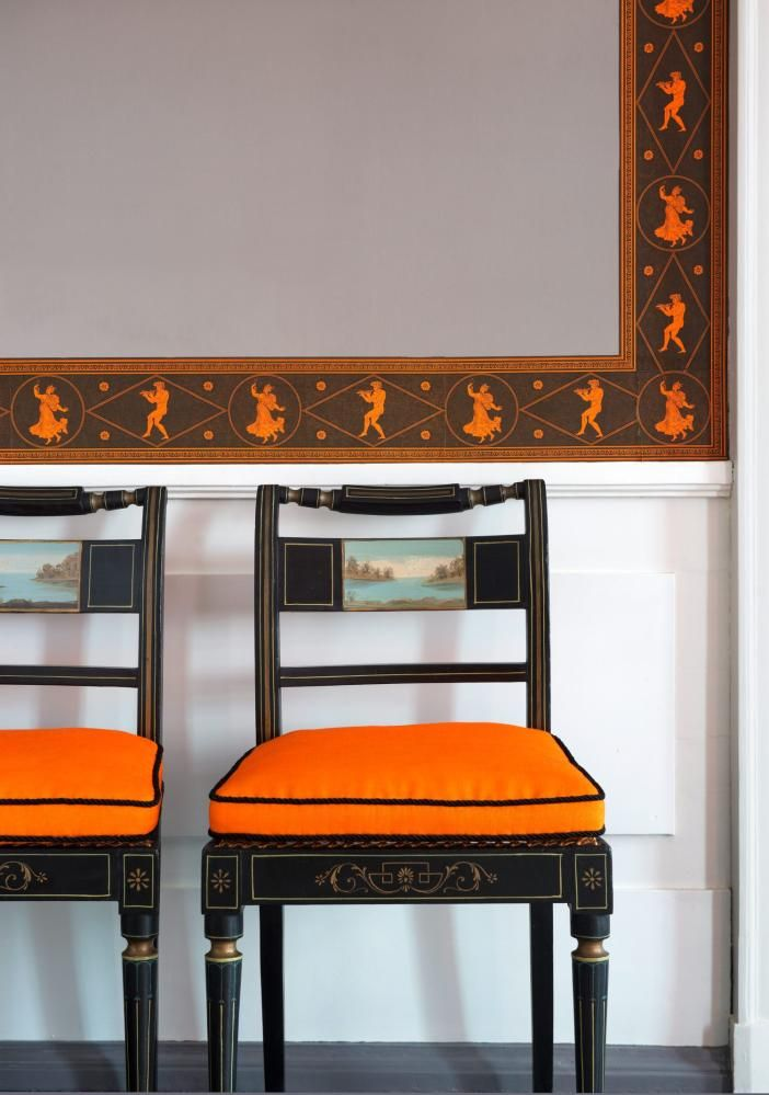 Dining Room detail - Eidsvollsbygningen is a historic Manor House in Eidsvoll in Norway, where the Constitution of Norway was made and signed on 17 May 1814. Photo: Espen Grønli