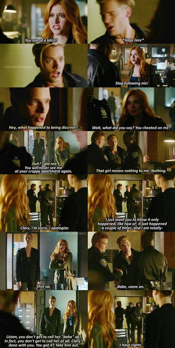 And he doesn't even know whats going on. Clary & Jace - Katherine McNamara & Dominic Sherwood #shadowhunters #clace 1x07