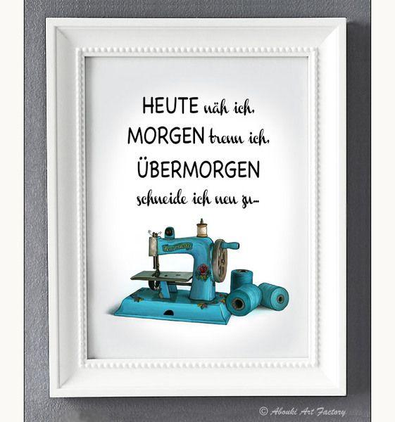 Kunstdruck+A4+Nähmaschine+von+ABOUKI+Art+Factory+auf+DaWanda.com