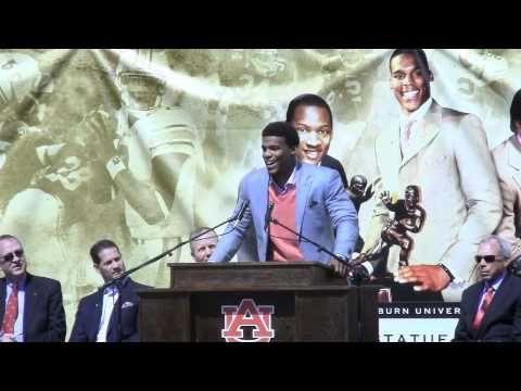 Cam Newton's speech & poem after unveiling his Heisman Trophy statute along with Bo Jackson & Pat Sullivan's on 4/14/12....class act, a true champion