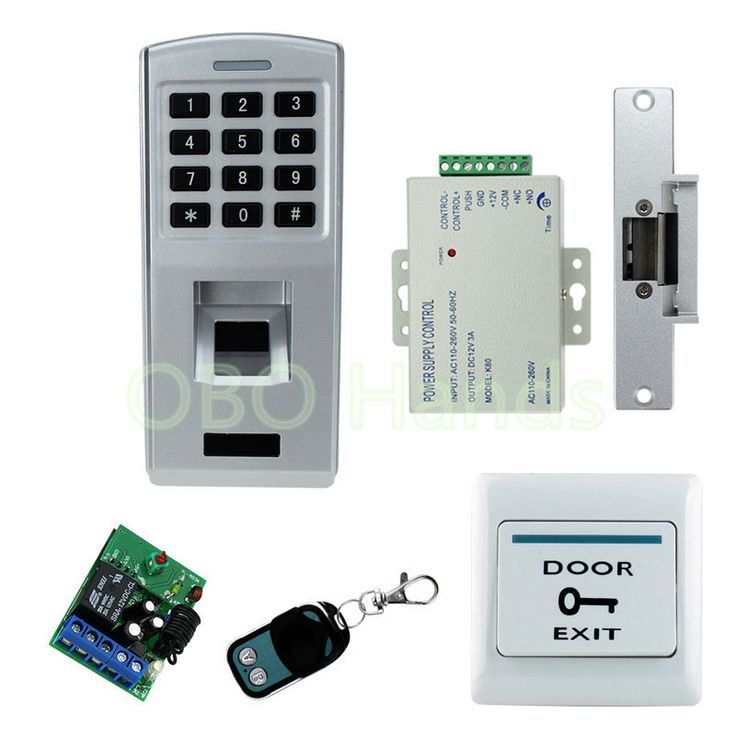 Fingerprint door lock system kit set with fingerprint scanner biometric machine+access control electronic locks+password keypad