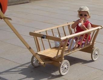 Leiterwagen Garten,Holz,Kinder,Bollerwagen,Kinderspielzeug,Leiterwagen