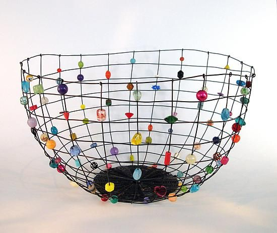 Large Annealed Steel Candy Basket by Sally Prangley: Metal Basket available at www.artfulhome.com