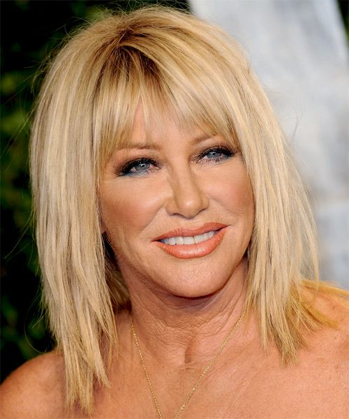 Suzanne Somers Medium Straight Casual Hairstyle With