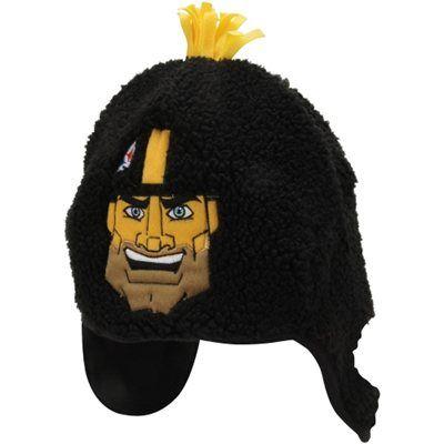 Pittsburgh Steelers Mascot Tassel Hat - Black