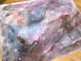 watercolor constellations activity to learn about the stars, go along activity for Follow the Drinking Gourd