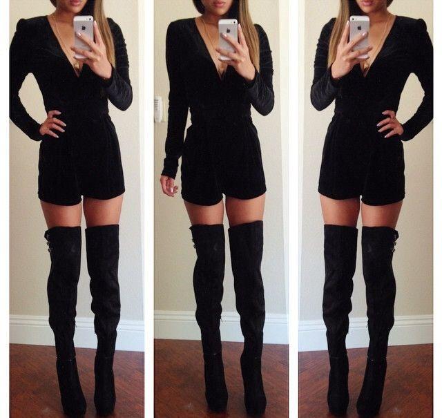 plain knee high boots for women
