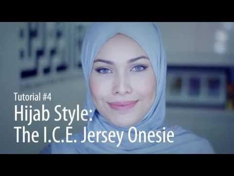 [Adlina Anis] Hijab Tutorial 4   The I.C.E. Jersey Onesie