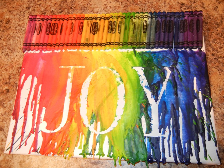 A new spin on the crayon art fad that39s going around for Melting wax for letters