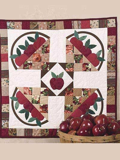 Free Quilt Pattern: Apple Harvest Wall Quilt - I Sew Free