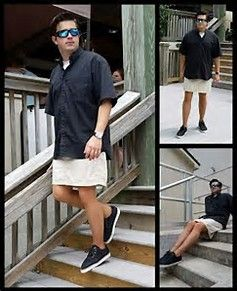 Image result for men in tights and skirts