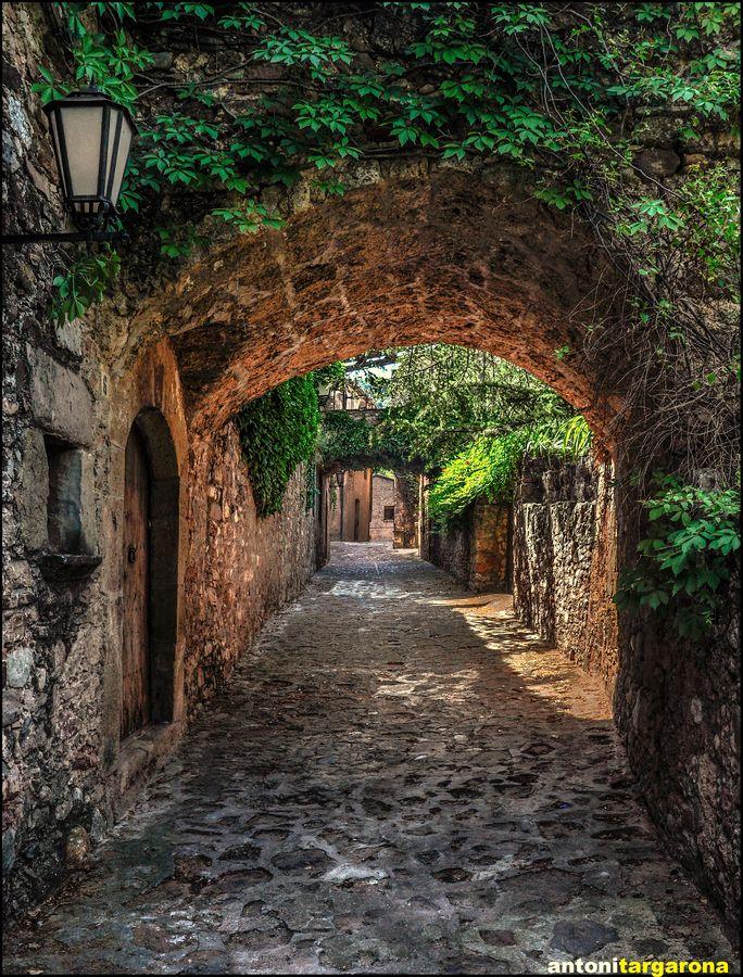 street of MURA (Barcelona) CATALONIA