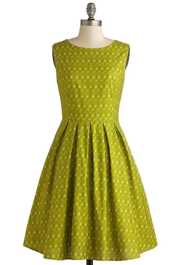 Super cute lime green retro dress!