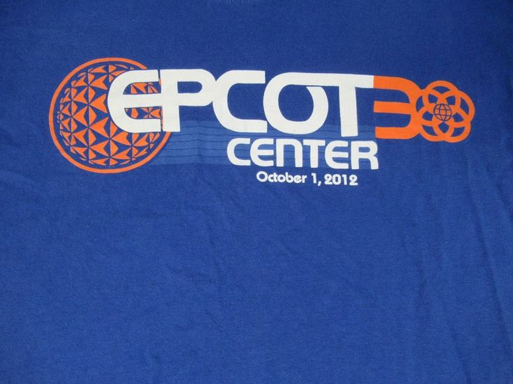 DISNEY WORLD - EPCOT CENTER OCTOBER 1,2012 - MEDIUM BLUE T-SHIRT L664 #Disney #GraphicTee
