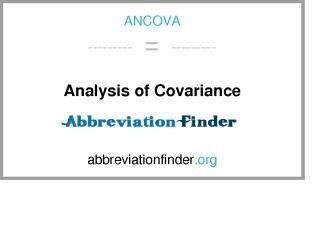 ANCOVA: Ανάλυση της συνδιακύμανσης