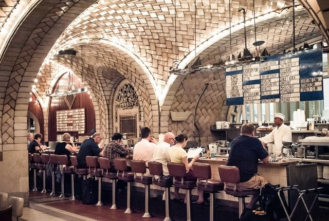 "Grand Central Oyster Bar... very ""New York"" restaurant inside beautiful Grand Central station!"
