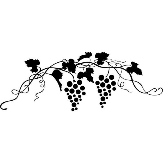 Vinyl Decal Grape Vine Wine Kitchen Food On Etsy 14 00