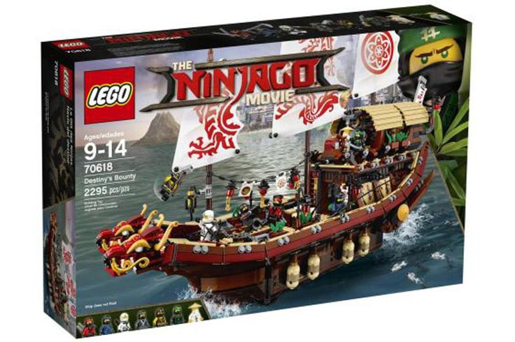 Bilder aller The LEGO Ninjago Movie Sets wurden veröffentlicht, darunter Temple of The Ultimate 70617 und das Schiff Destiny's Bounty 70618: Fotos.
