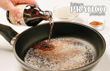 Vous venez de cuisiner du poisson et des invités sonneront bientôt à votre porte? Pour dissimuler la senteur, sortez une poêle antiadhésive et faites chauffer à feu doux un mélange de 125 ml (1/2 tasse) de sucre, 5 ml (1 c. à thé) de cannelle et 15 ml (1 c. à soupe) de vanille. L'odeur indésirable du poisson fera place à des parfums de biscuits fraîchement sortis du four. Ni vue, ni connue!