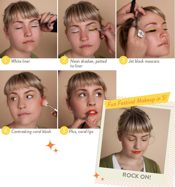 Create a look with bright eyeliner in 5 steps!