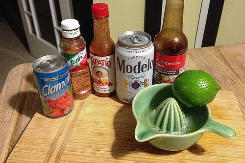Ingredients for a Michelada, my favorite Mexican beer cocktail. Here's the recipe: http://www.everintransit.com/mexican-michelada-recipe/