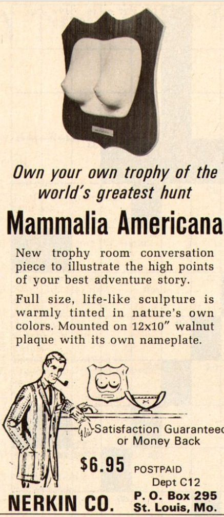 An ad like this, c 1955, just shows how far humans, women in particular, have come in our fight to be regarded as equals and not property.
