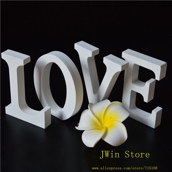 Cheap gift craft home decor, Buy Quality decor and gifts directly from China decorative gift wrap paper Suppliers:    Free Shipping Standing White LOVE Decorative Wooden Letter Alphabet A-Z Wedding Gift  Store Decor Size 8cm High A-Z 0