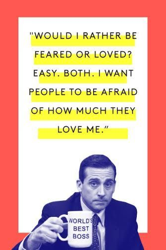 The Tao Of Michael Scott #refinery29 http://www.refinery29.com/2015/03/83753/michael-scott-office-quotes#slide-11 I'm afraid of how much I love Jim and Pam.Watch here