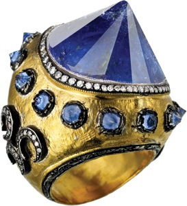 ~Ring inspired by Galata tower, Istanbul. Designed by: Istanbul-based designer Sevan Bicakci   House of Beccaria