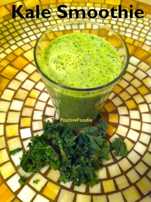 how to cut kale for smoothies