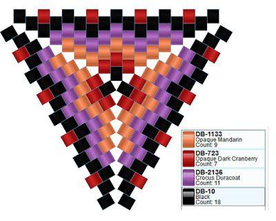 Схемы треугольников из бисера / Peyote triangles patterns