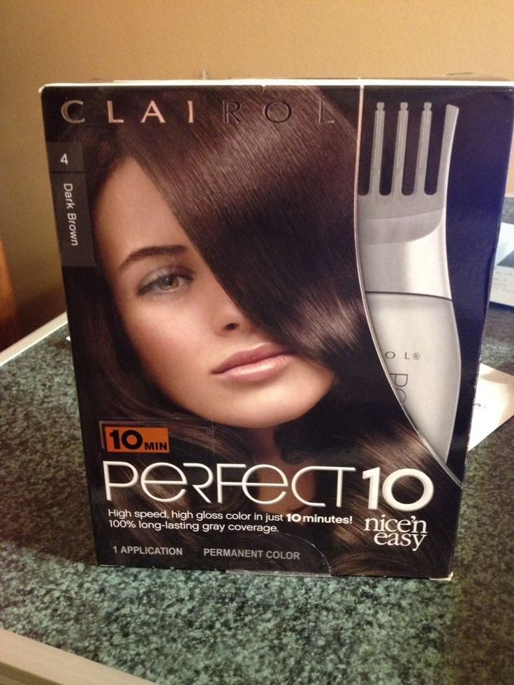 Clairol Perfect 10 Hair Color #4 Dark Brown LAST ONE #Clairol