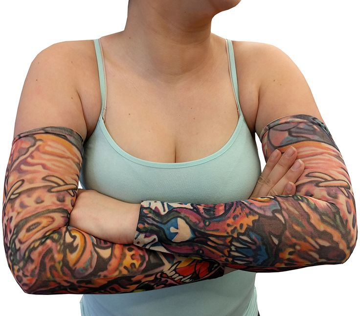 """Tattoo Sleeves - Demon and Skulls Tattoo Sleeves (Pair).Demon and Skulls Tattoo Sleeves    Sleeves brand temporary tattoo sleeves are taking the fashion world by storm.  Tattoo sleeves are a fun, temporary alternative to permanent body art. Have you  ever wondered what it would be like to have fully tattooed arms but you don't  want to face the needle? These fake tattoo sleeves are for you! Tattoo Sleeves  are made of a special proprietary Dermographic material that makes the """"ink..."""