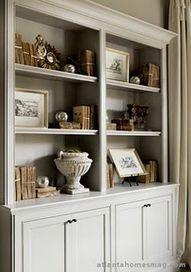 bookshelves in LR