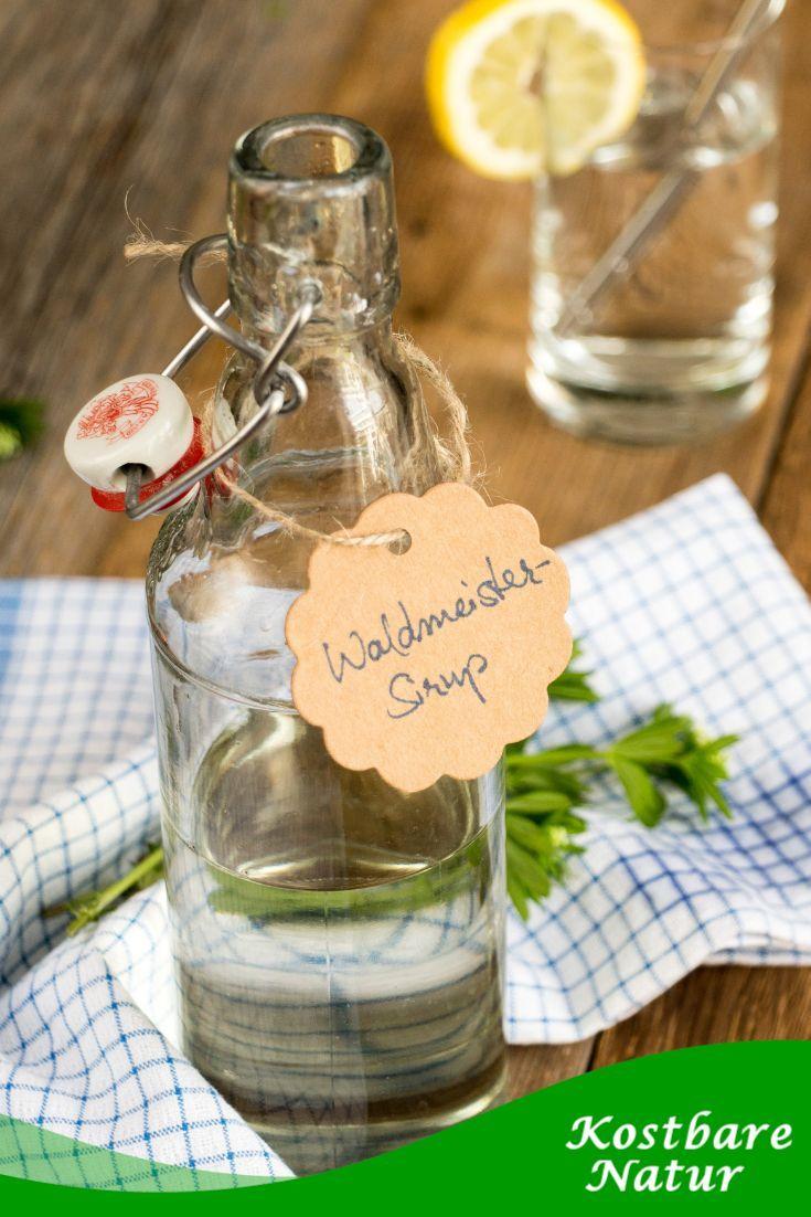 Sirup mit echtem Waldmeister – fang den Geschmack des Frühlings ein!