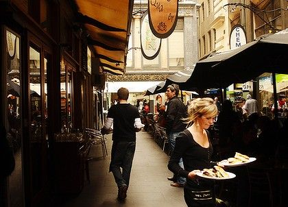 Melbourne laneway cafes. Inner-city life ... laneway cafe strip.