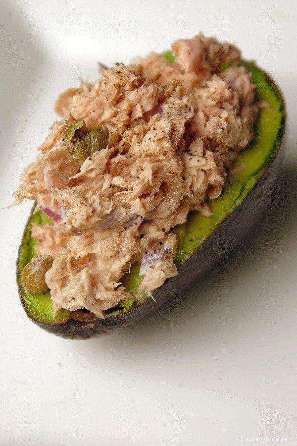Gevulde avocado met tonijnsalade 2