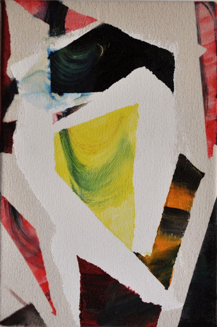 Dynamic Gestures Ⅱ/2012 2012  30.5x20.5cm Oil, acrylic and acrylic gel on canvas