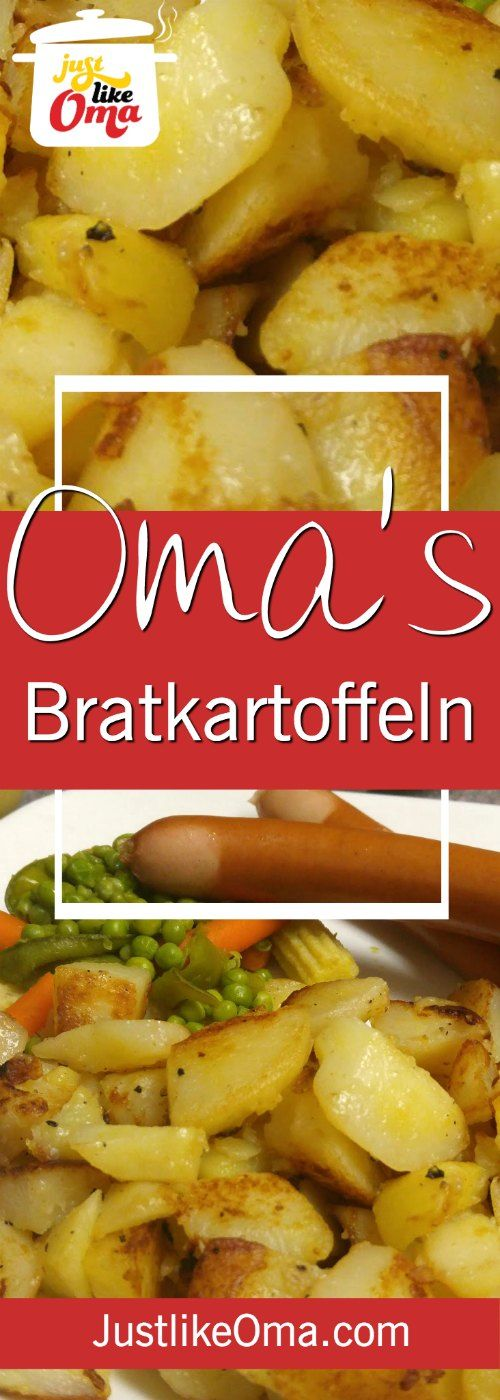 Bratkartoffeln ... German Fried Potatoes .. so traditionally delicious! ❤️ Check out https://www.quick-german-recipes.com/fried-potato-recipes.html