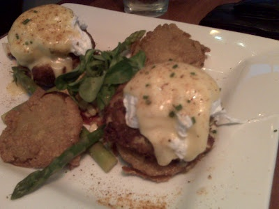 Crab Cake And Fried Green Tomatoes Eggs Benedict From Miss