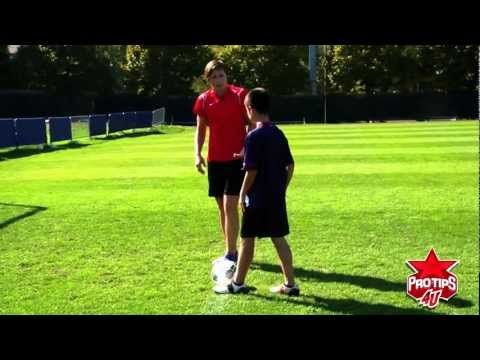 Abby Wambach Soccer Drills: How to shoot the soccer ball with accuracy. ProTips4U featured tip.
