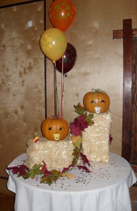 fall decor for a fall baby shower