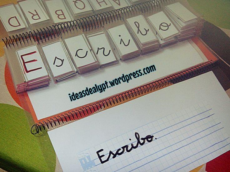Libro movil para  formar y escribir palabras