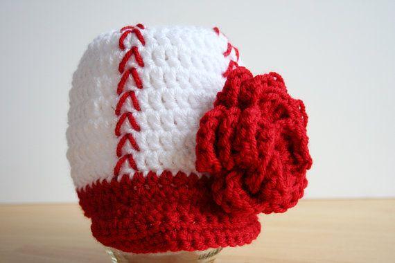 Baby Girl Baseball Cap, Newborn baseball hat, Flower baseball hat for baby girls, Newborn to 12 month sizes available on Etsy, $20.00