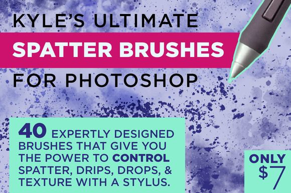 Kyle's Spatter Brushes for Photoshop by Kyle's Pro Design Tools  on Creative Market