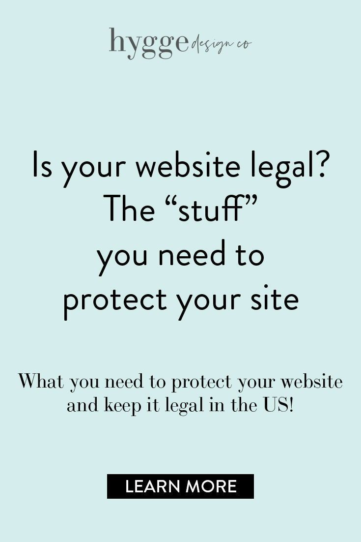 Why You Need A Privacy Policy And Terms And Conditions For Your Website Hyggedesign Co Website Website Footer Squarespace Web Design